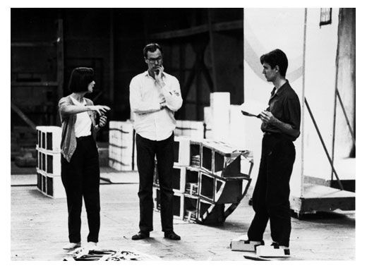 Adelle, Bob and David at the Tokyo workshop. As in Japanese homes, workers were encouraged to leave their shoes at the door. DB made temporary slippers out of cardboard.
