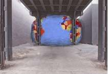 David Byrne, Artist's rendering of Tight Spot, 2011. Courtesy The Pace Gallery.