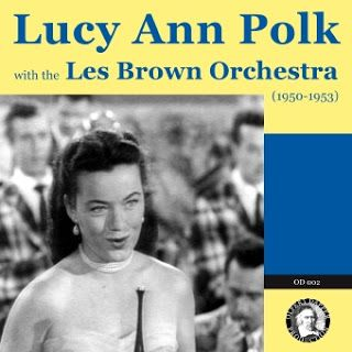 Poster for Lucy An Polk with the Les Brown Orchestra.