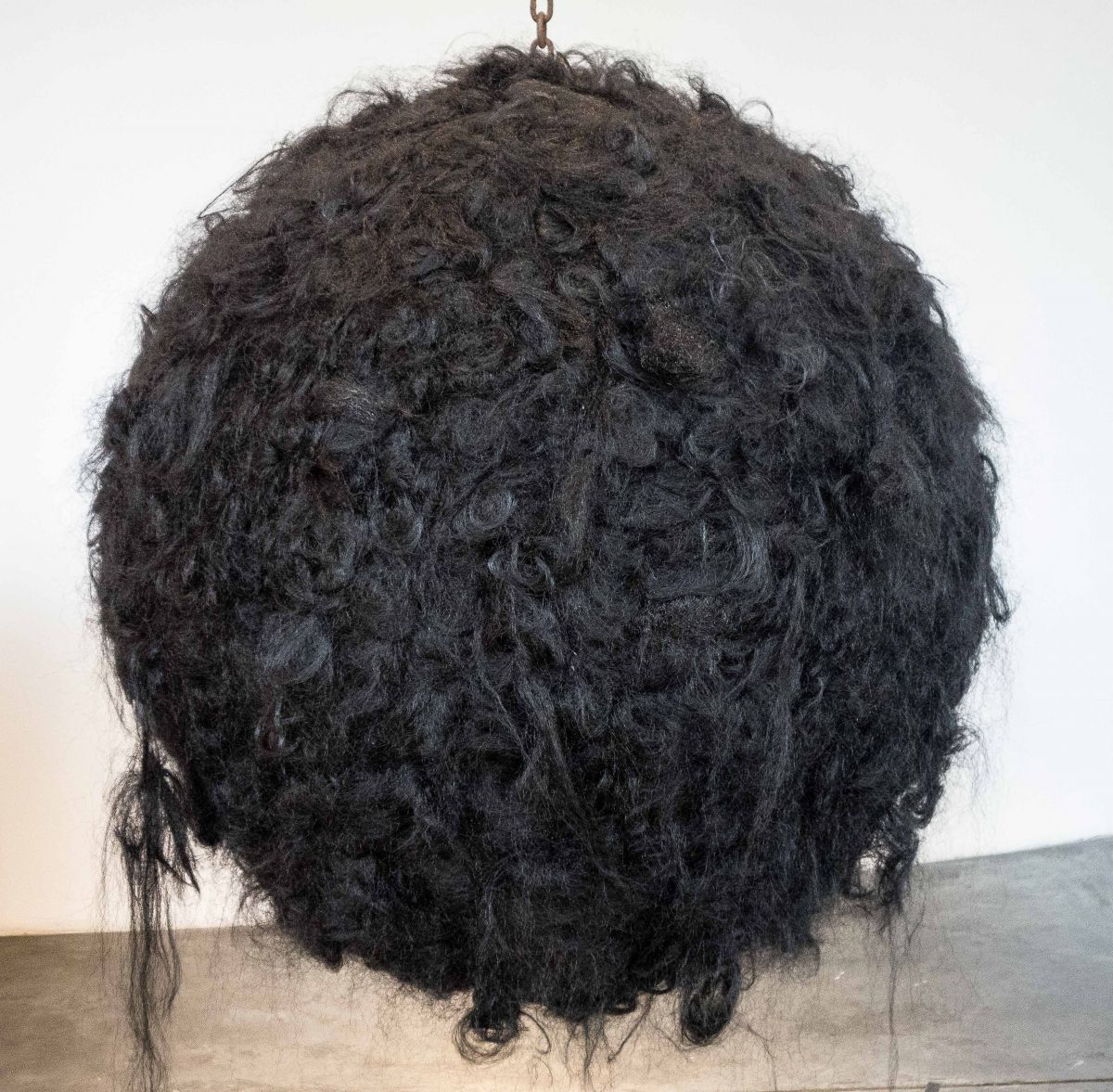 A synthetic hair ball by artist Castillo.
