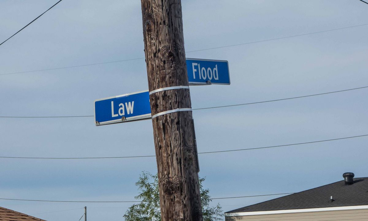 Corner of Law and Flood.