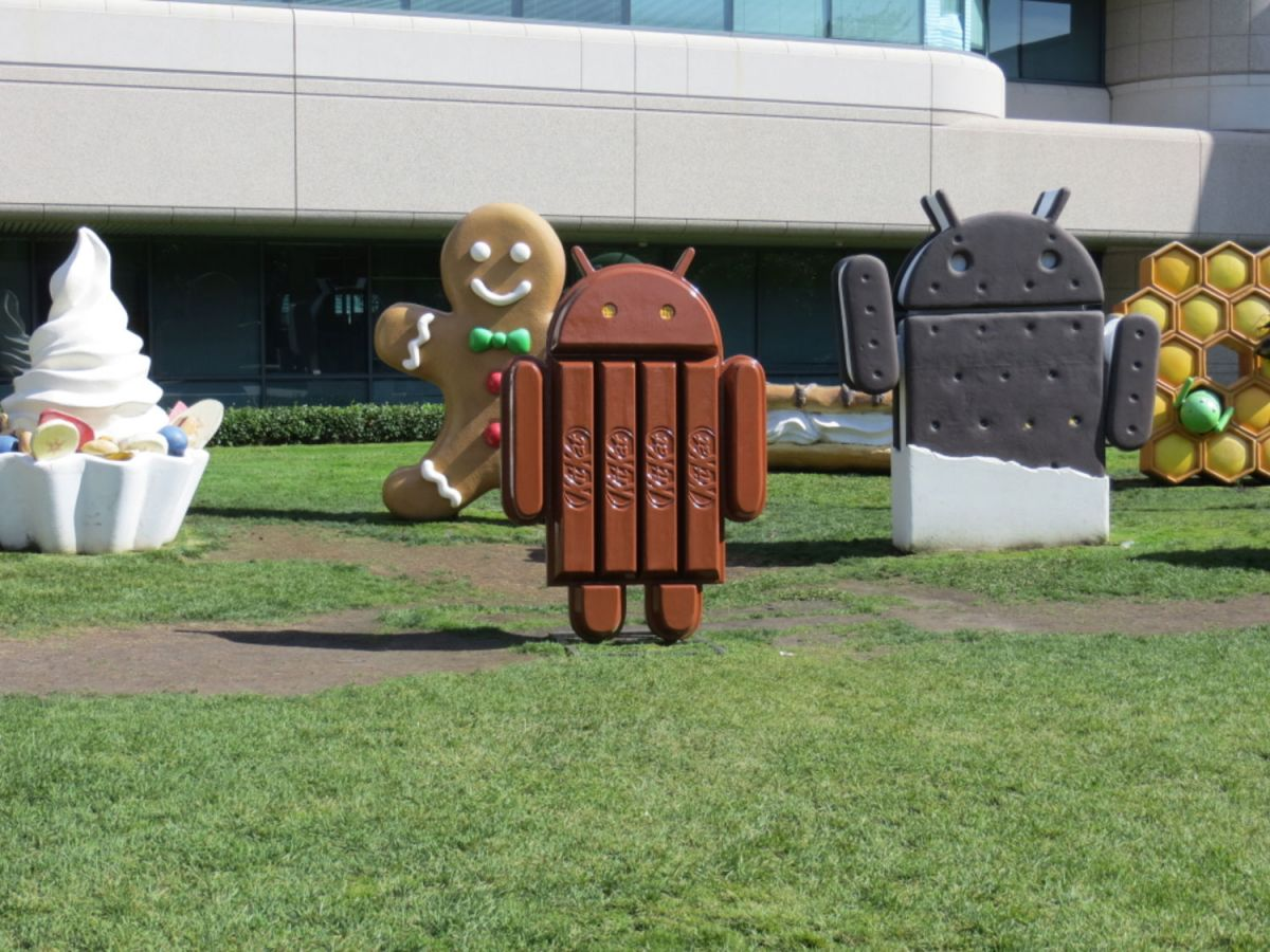 The latest version of Android, KitKat.