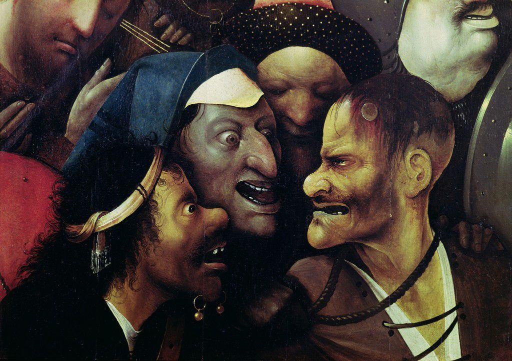 Detail from 'Christ Carrying the Cross.' Oil on panel, c. 1510-1516. Museum voor Schone Kunsten, Ghent.