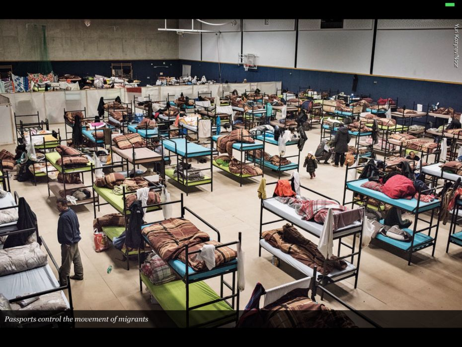 Refugees in Germany.