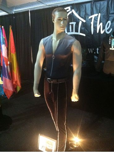 Costume on display at merch tent.