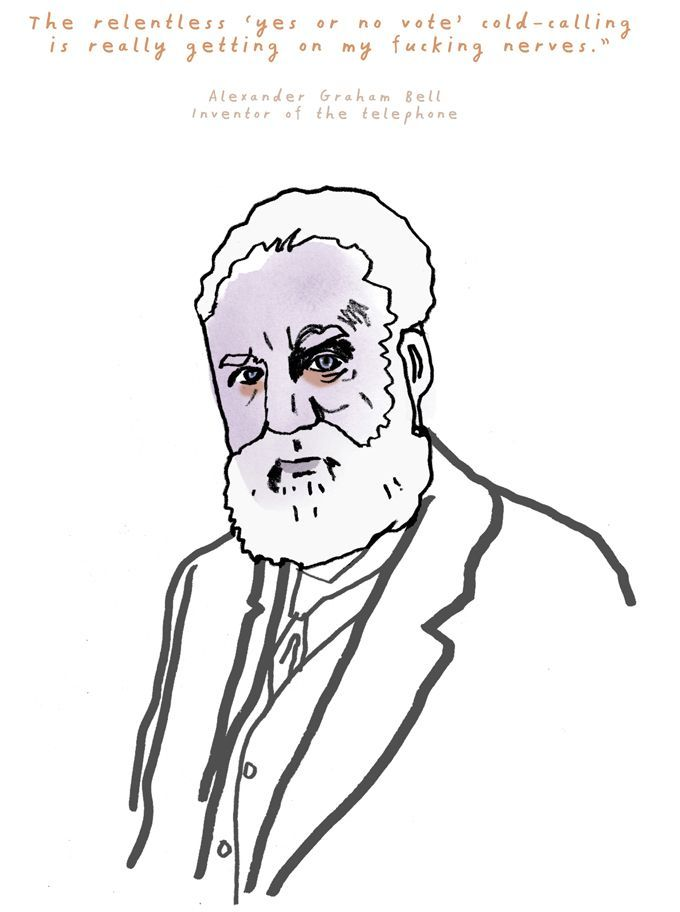 Alexander Graham Bell, Inventor of the telephone.