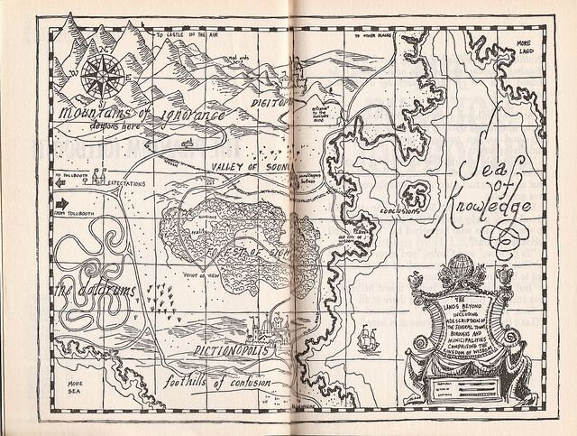 'The Kingdom of Wisdom' map from 'The Phantom Tollbooth,' by Norton Juster.