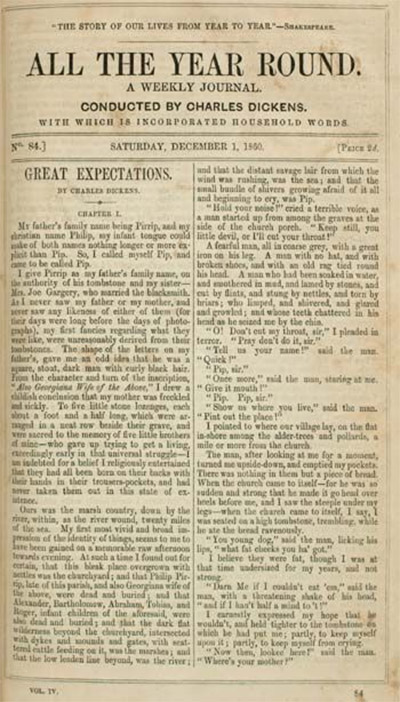 'Great Expectations' was first published in weekly installments.