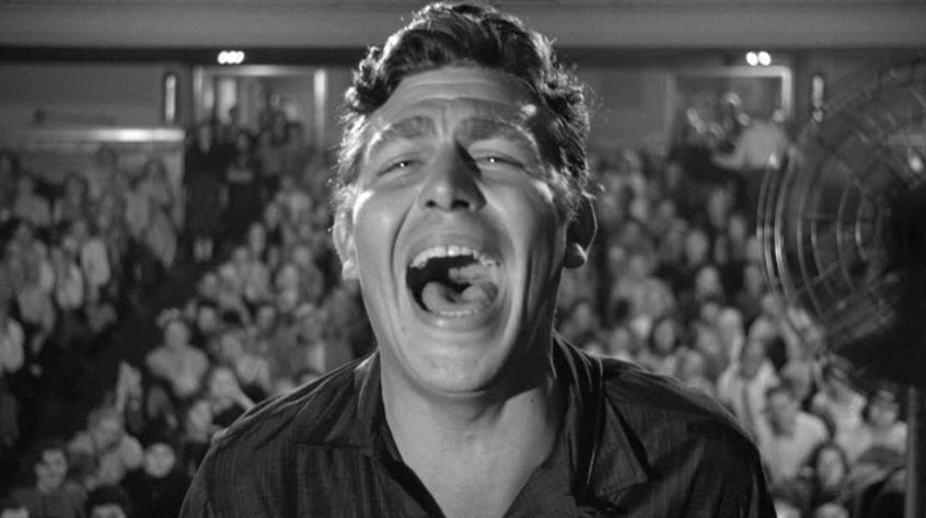 Andy Griffith as Lonesome Rhodes in the 1957 film 'A Face in the Crowd.'