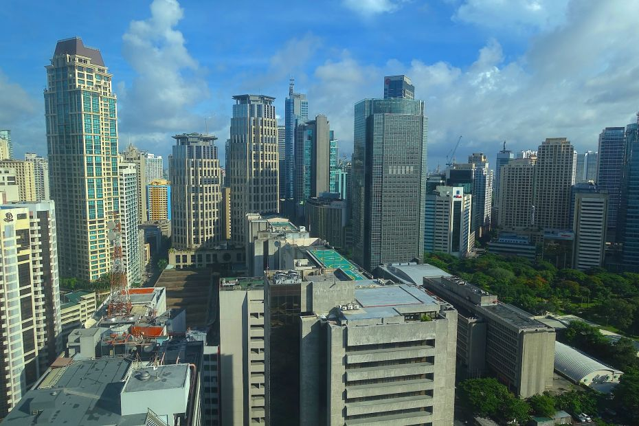 The modern Manila business district of Makati.