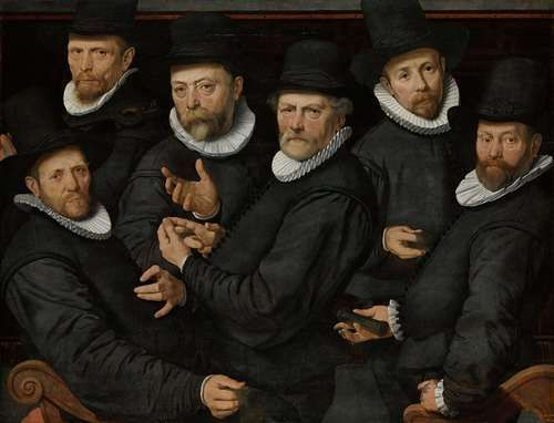 Six Wardens of the Drapers' Guild, Pieter Pietersz. (I), 1599.