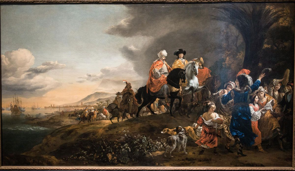 The Dutch Ambassador on his Way to Isfahan, Jan Baptist Weenix, 1653 - 1659.