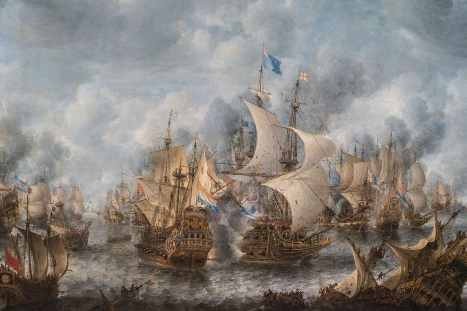 Battle of Terheide, 10 August 1653. Jan Abrahamsz Beerstraten, c. 1653-1666.