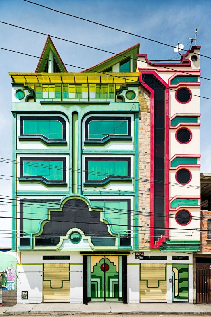 A recent example of Bolivian vernacular architecture by Freddy Mamani Silvestre, as featured in The New Yorker last December.